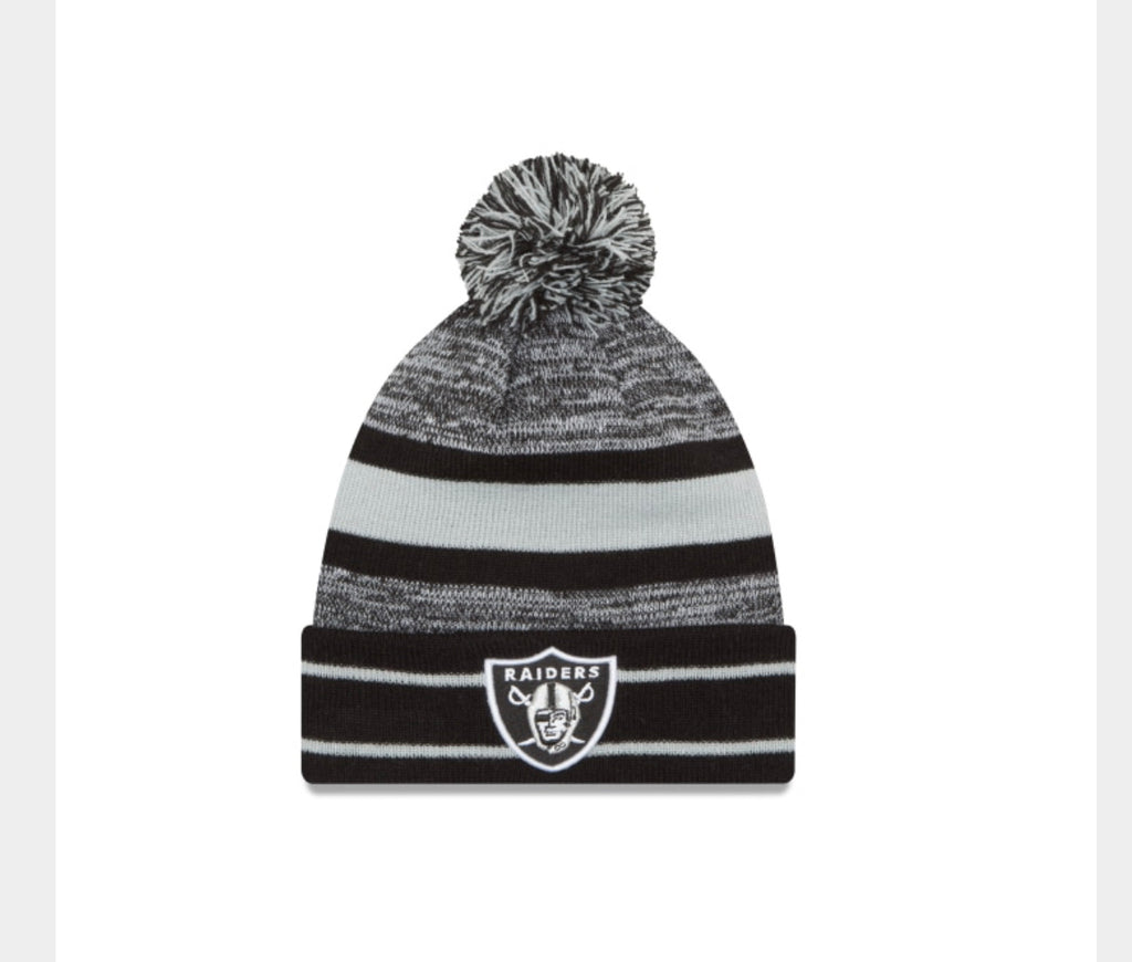 Las Vegas Raiders New Era Cuff Pom Knit - AtlanticCoastSports