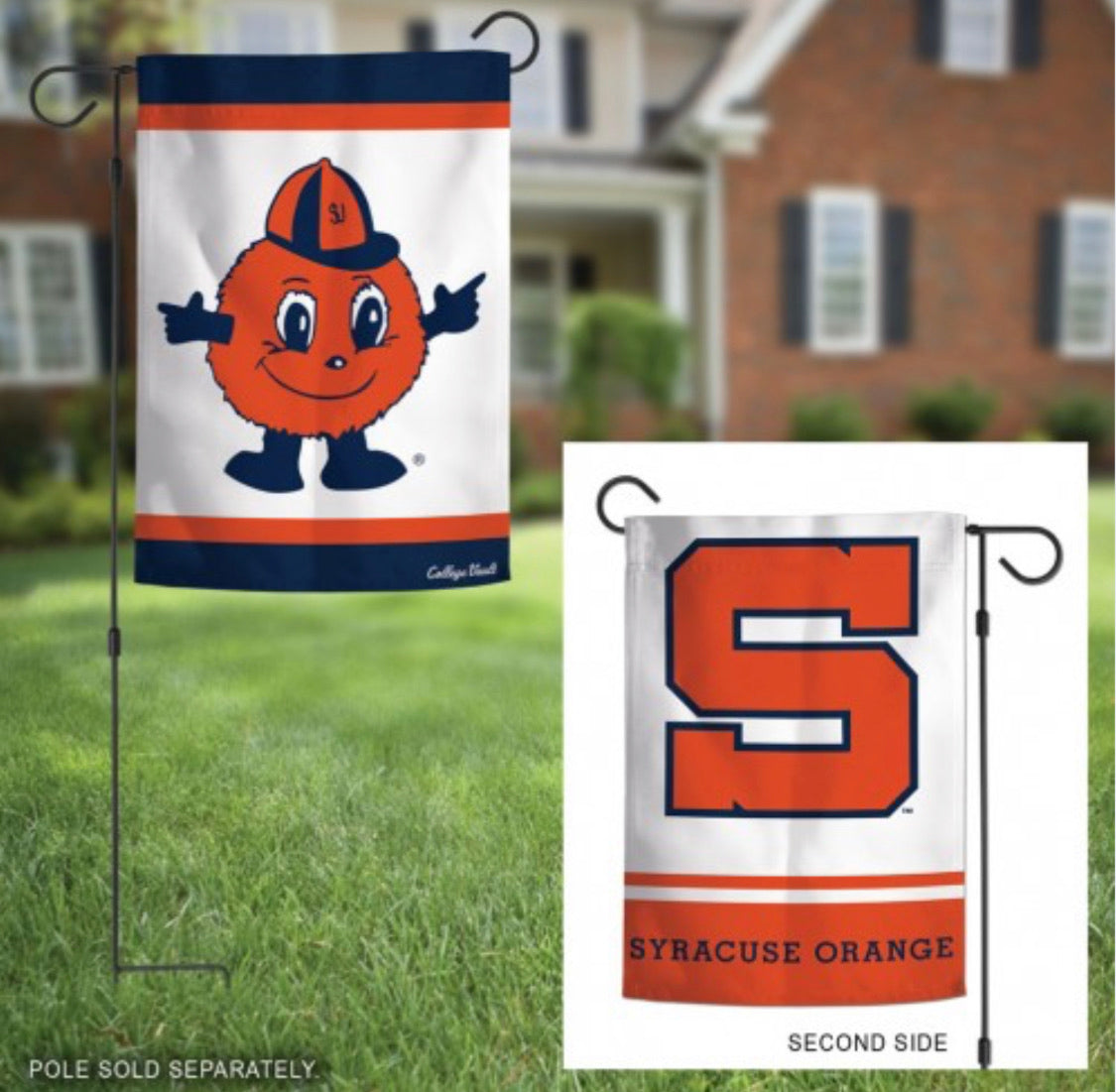 "Syracuse University 2 Sided Garden Flag 12.5"" X 18"""