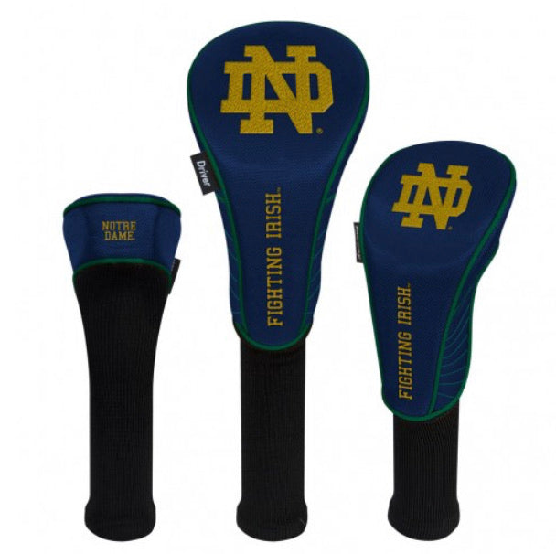 Notre Dame Set of 3 Golf Head Covers