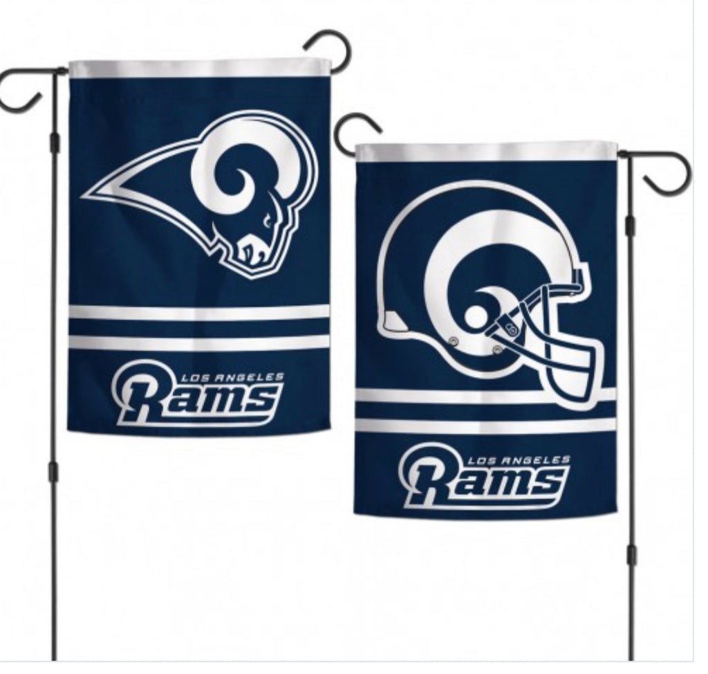 "Los Angeles Rams 2 SIded Garden Flag 12.5"" X 18"""