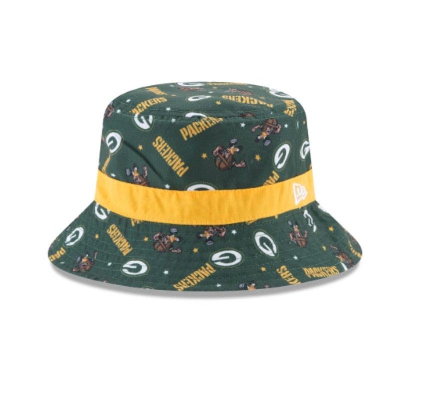 Green Bay Packers New Era  Kids / Toddler Dotted Bucket Hat