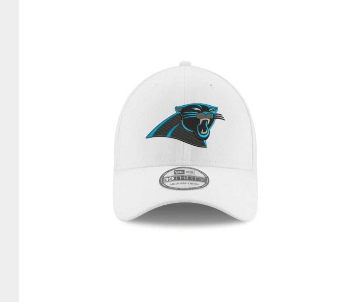 Carolina Panthers New Era 3930 White Hat - AtlanticCoastSports