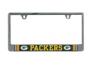 GREEN BAY PACKERS JERSEY LIC PLATE FRAME B/O PRINTED - AtlanticCoastSports