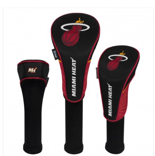 Miami Heat Set of 3 Golf Head Covers