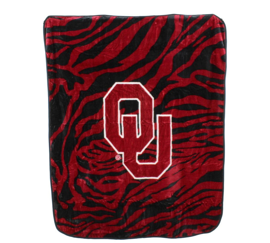 NCAA Oklahoma Sooners Soft Raschel Throw Blanket