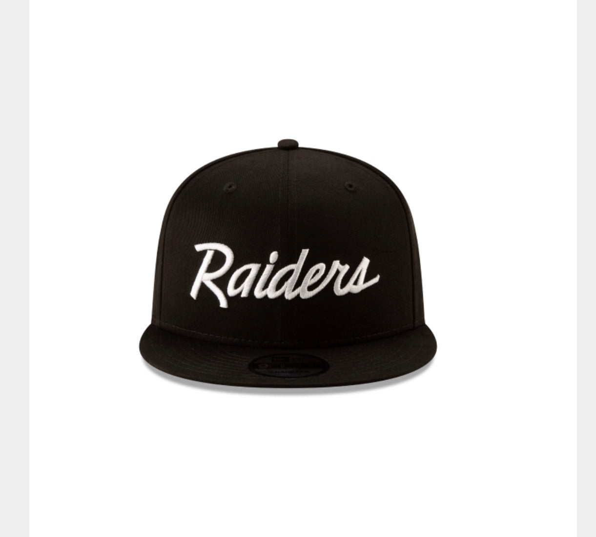Las Vegas Raiders New Era 950 Snap Back NFL Basic Black Hat - AtlanticCoastSports