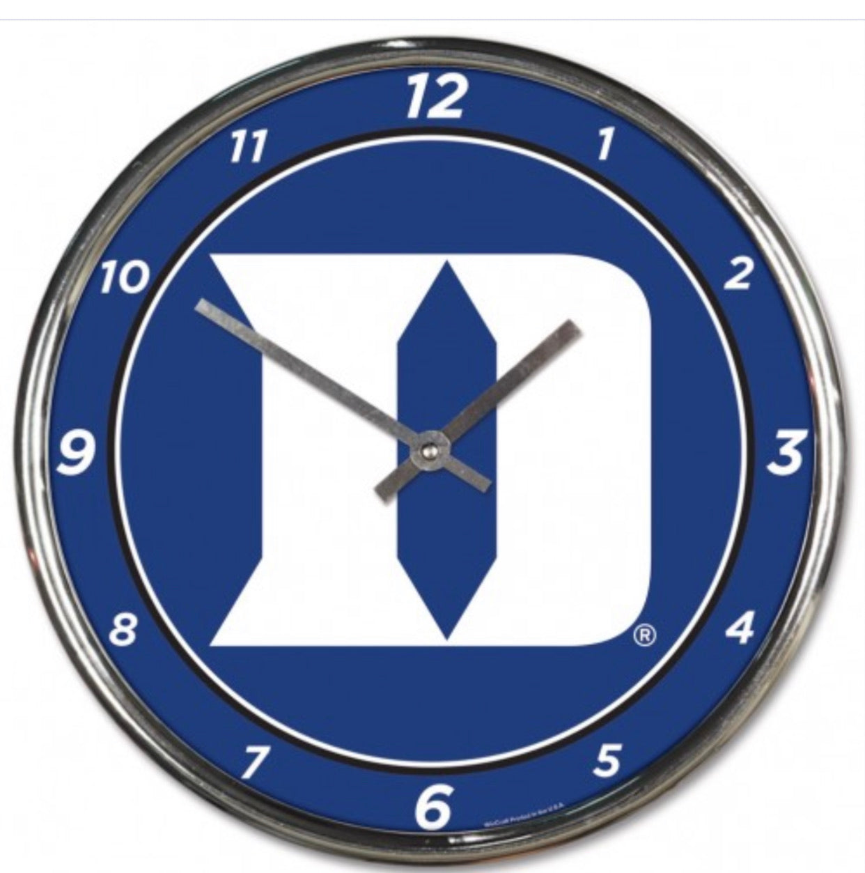 DUKE UNIVERSITY CHROME CLOCK - AtlanticCoastSports