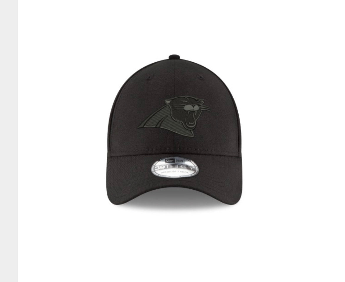 Carolina Panthers New Era 3930 Black on Black Hat - AtlanticCoastSports