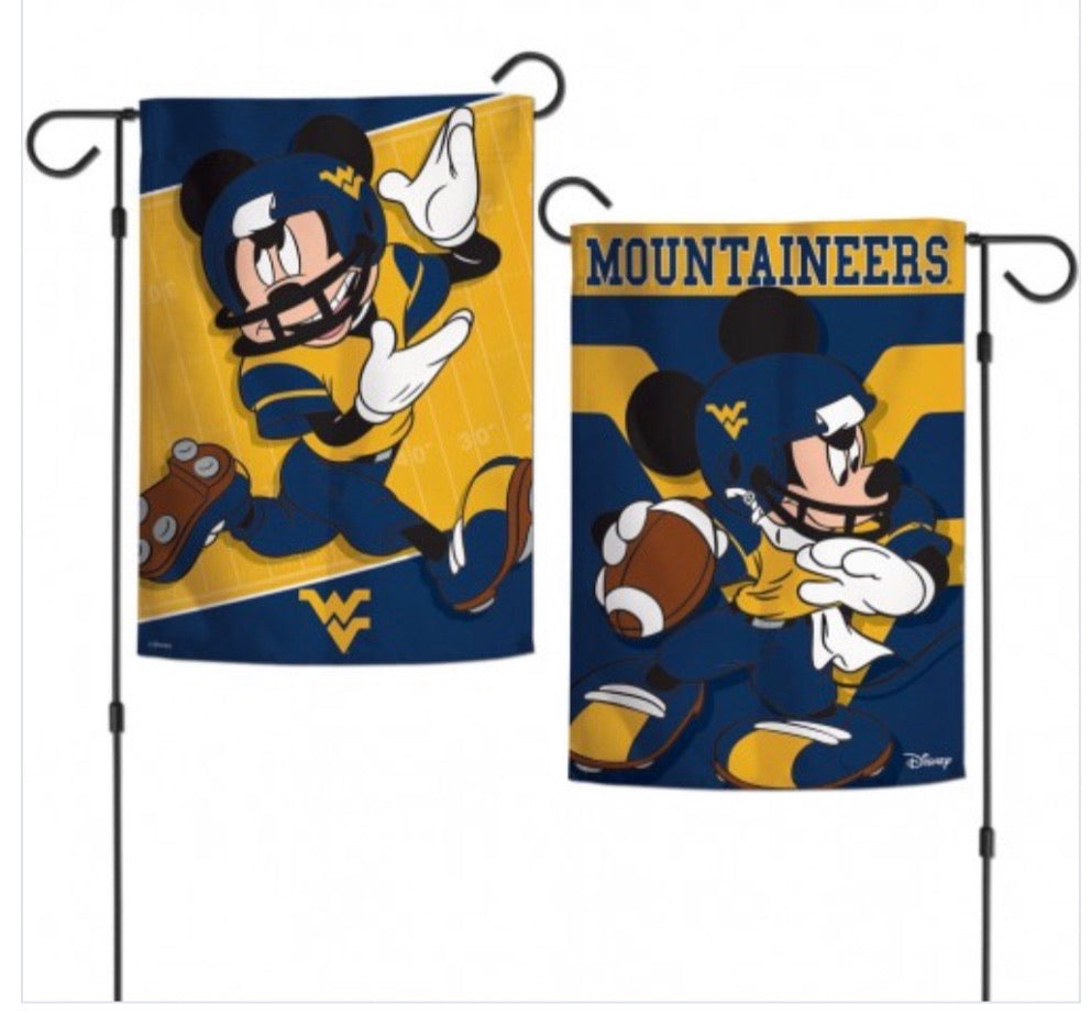 "West Virginia Mountaineers 2 SIded Garden Flag 12.5"" X 18"""