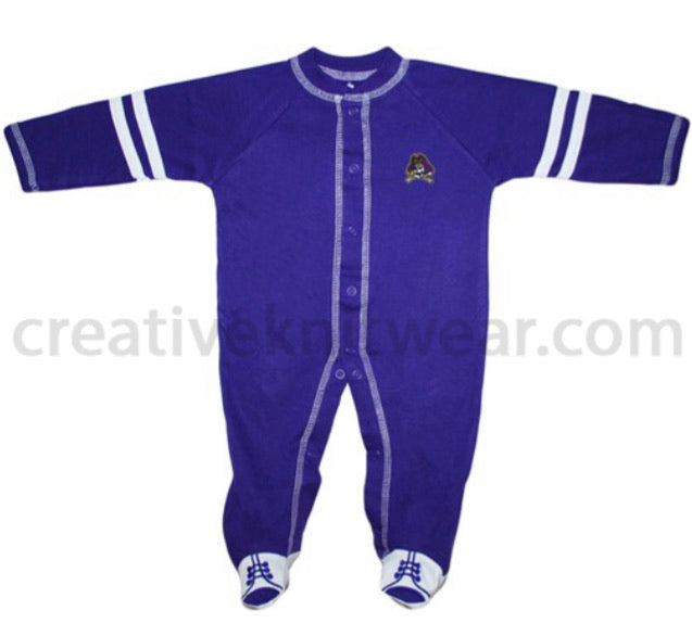 East Carolina Pirates Sports Shoe Footed Romper