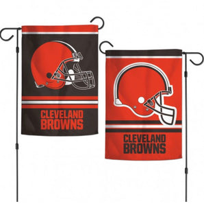 "Cleveland Browns 2 Sided Garden Flag 12.5"" X 18"""