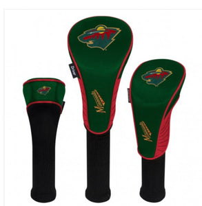 Minnesota Wild Golf Head Covers Set of 3