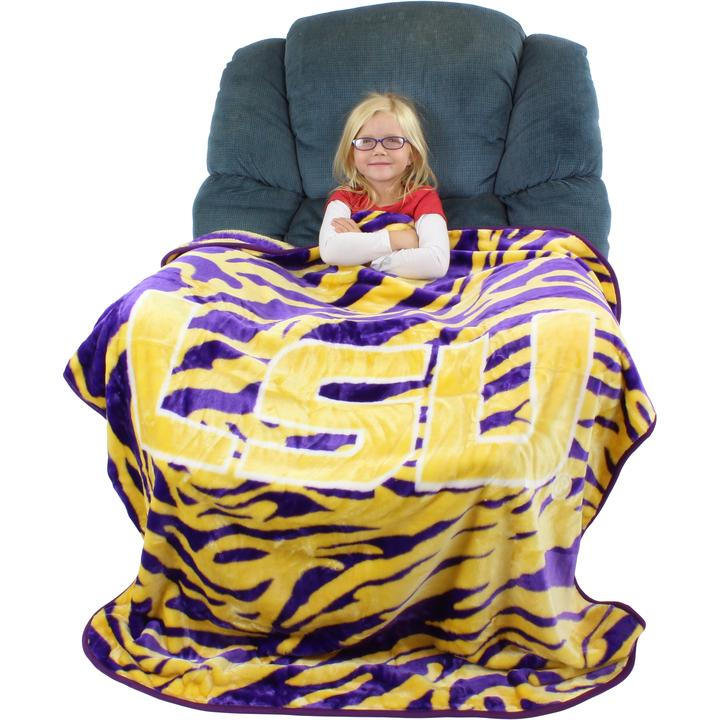 "LSU Tigers Rachel Throw Blanket, 50"" X 60"""