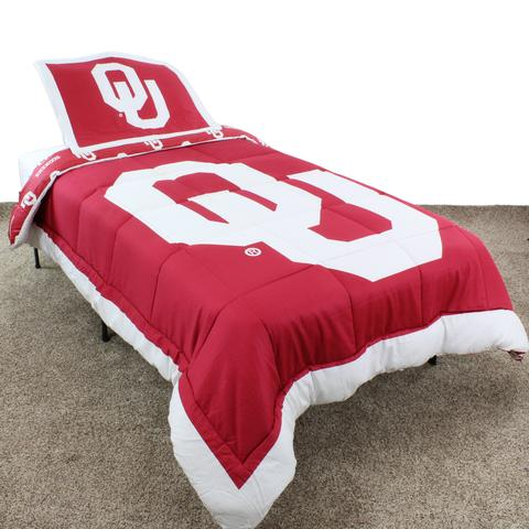 NCAA Oklahoma Sooners Reversible Twin Comforter Set