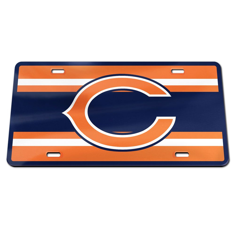 Chicago Bears Stripes Specialty Acrylic Classic License Plate