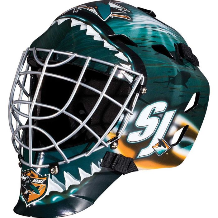 San Jose Sharks Franklin GFM 1500: NHL® Team Goalie  Helmet