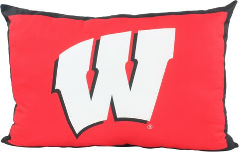 "Wisconsin Badgers Fully Stuffed 28"" Big Logo Pillow"
