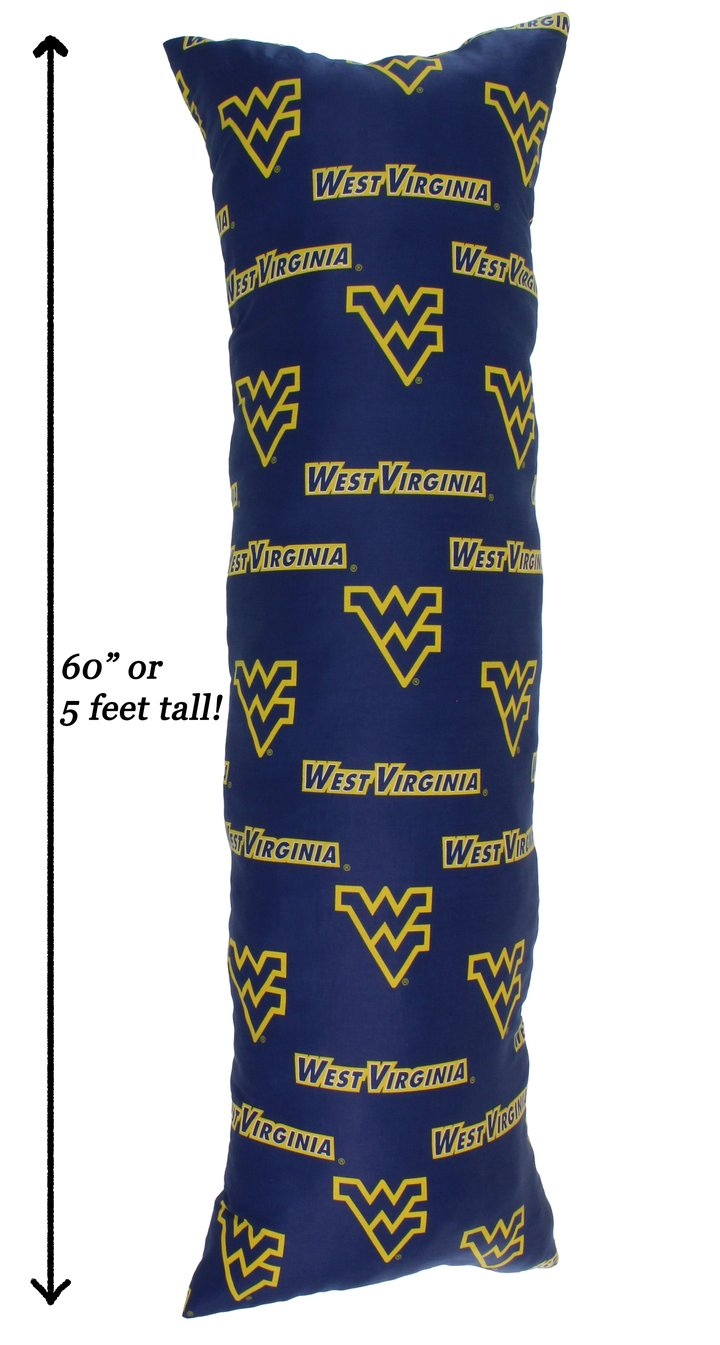 NCAA West Virginia Mountaineers Printed Body Pillow