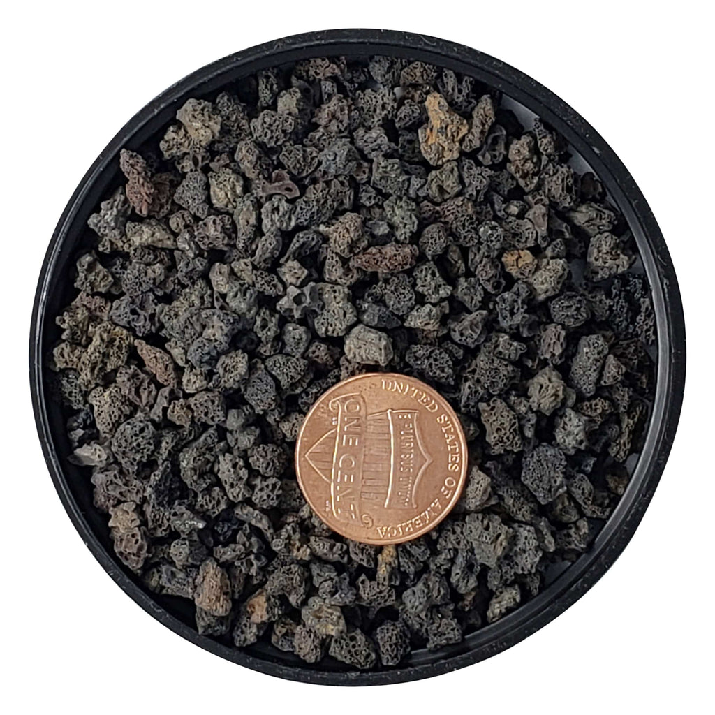 "5mm - Small - Washed - 1/8"" - 1/4"" / 13L (3.43 Gallons) Black Lava - Bonsai Soil Substrate"