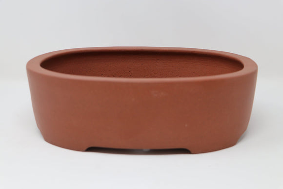 Japanese Yamaaki Oval Bonsai Pot - Unglazed - 10.75