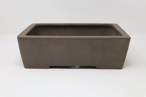 Japanese Yamaaki Rectangle Bonsai Pot - Unglazed - 10
