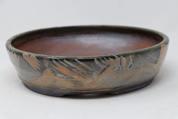 Sam Miller Glazed Oval Bonsai Pot - 9.75