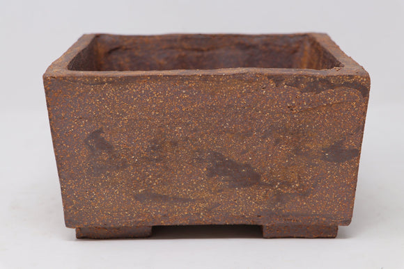 Ross Adams Unglazed Heavy Rectangle Bonsai Pot - 7.25