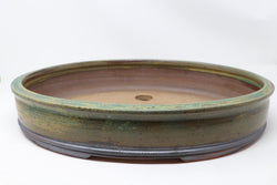 "Eagleville Bonsai's Jack Hoover Large Oval Glazed Bonsai Pot - 17"" x 13"" x 3"""
