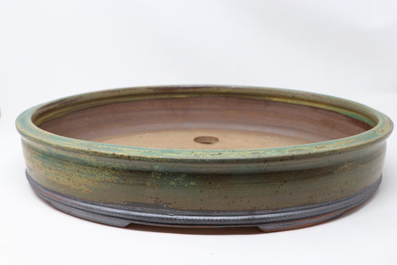 Eagleville Bonsai's Jack Hoover Large Oval Glazed Bonsai Pot - 17