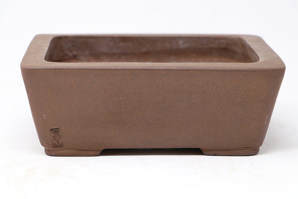 Japanese Manzan Rectangle Bonsai Pot - 7.5