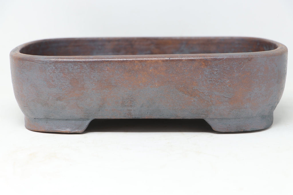 "Sam Miller Unglazed Rounded Rectangle Bonsai Pot - 10.75"" x 9.5"" x 2.75"""