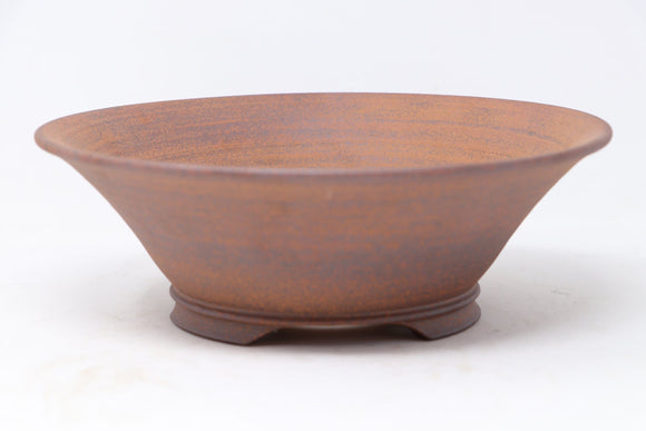 Randy Doughty Unglazed Round Fancy Bonsai Pot - 9