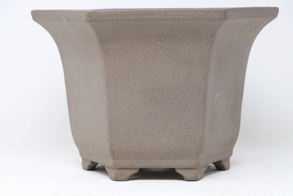 Japanese Semi Cascade Polygon Fancy Bonsai Pot by - 9.5