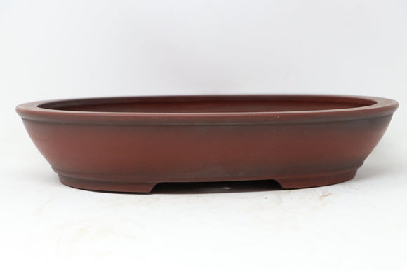 Bigei Japanese Oval Unglazed Bonsai Pot - 12.25