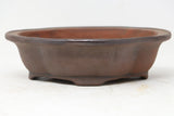 "Ibuki Mokko Unglazed Bonsai Pot - European - 7.25"" x 6.25"" x 2"""
