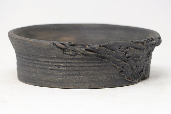 Brian Soldano Unglazed Round Ripped/Torn Bonsai Pot - 6.25