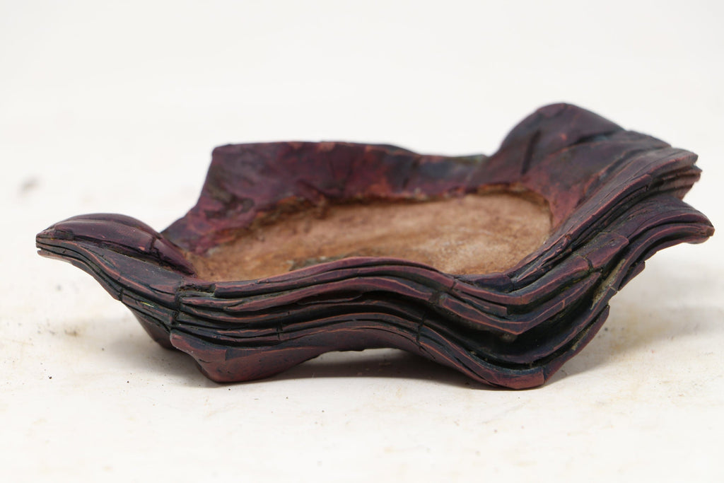 "Takumi Bonsai Accent or Mame Pot by Andres Grisales - 1.5"" High x 5.25"" Wide x 3"" Deep"