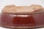 "Chinese Production Red Oval Bonsai Pot - Glazed - 7.5"" x 5.75"" x 2.5"""