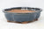 "Chinese Production Green/Blue Mokko Bonsai Pot - Glazed - 8.25"" x 6.75"" x 2.5"""