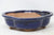 "Chinese Production Blue Mokko Bonsai Pot - Glazed - 7.25"" x 6.25"" x 2.25"""