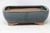 "Chinese Production Blue Rounded Rectangle Bonsai Pot - Glazed - 8.5"" x 6.5"" x 2.75"""