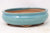 "Chinese Production Blue Oval Bonsai Pot - Glazed - 7.25"" x 6"" x 2.5"""