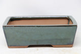 "Chinese Production Green Rectangle Bonsai Pot - Glazed - 7.5"" x 5.5"" x 2.5"""