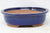 "Chinese Production Blue Oval Bonsai Pot - Glazed - 7.5"" x 6.25"" x 2.5"""