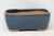 "Chinese Production Blue Rounded Rectangle Bonsai Pot - Glazed - 5.5"" x 4.5"" x 2.25"""