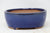 "Chinese Production Blue Oval Bonsai Pot - Glazed - 5.5"" x 4.5"" x 2.25"""