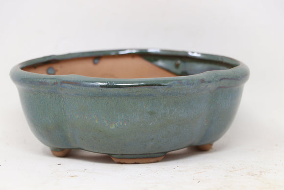 Chinese Production Green Mokko Bonsai Pot - Glazed - 5.5