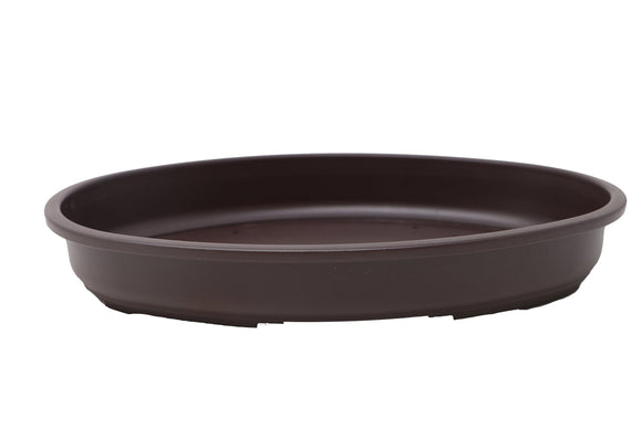 Oval Shallow Brown Plastic Forest Bonsai Training Pot