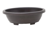 Oval Deep Brown Plastic Bonsai Training Pot