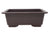 "LD-F013-10 -12.5"" x 8.75"" x 4.5"" Rectangle Deep Brown Plastic Bonsai Training Pot"